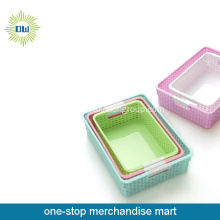 square plastic storage container